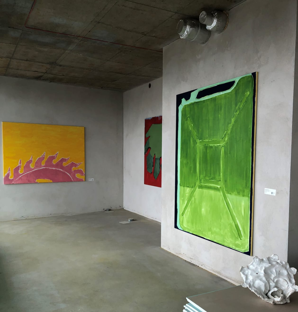 Tower, 2019 Pop - Up exhibition with Dominykas Sidorovas's paintings at the