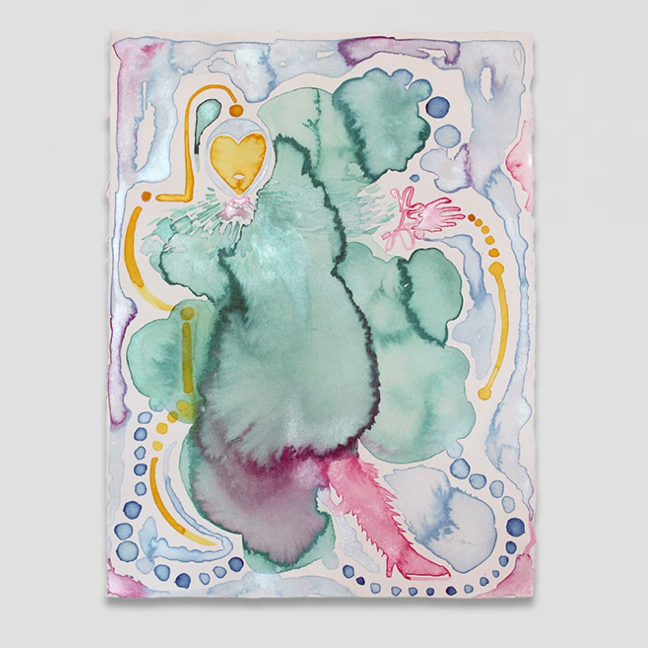 Susie Green Avatar (VIII), 2021 Watercolour and pencil on 300gsm Arches cotton paper 38 x 28 cm 15 x 11 1/8 in