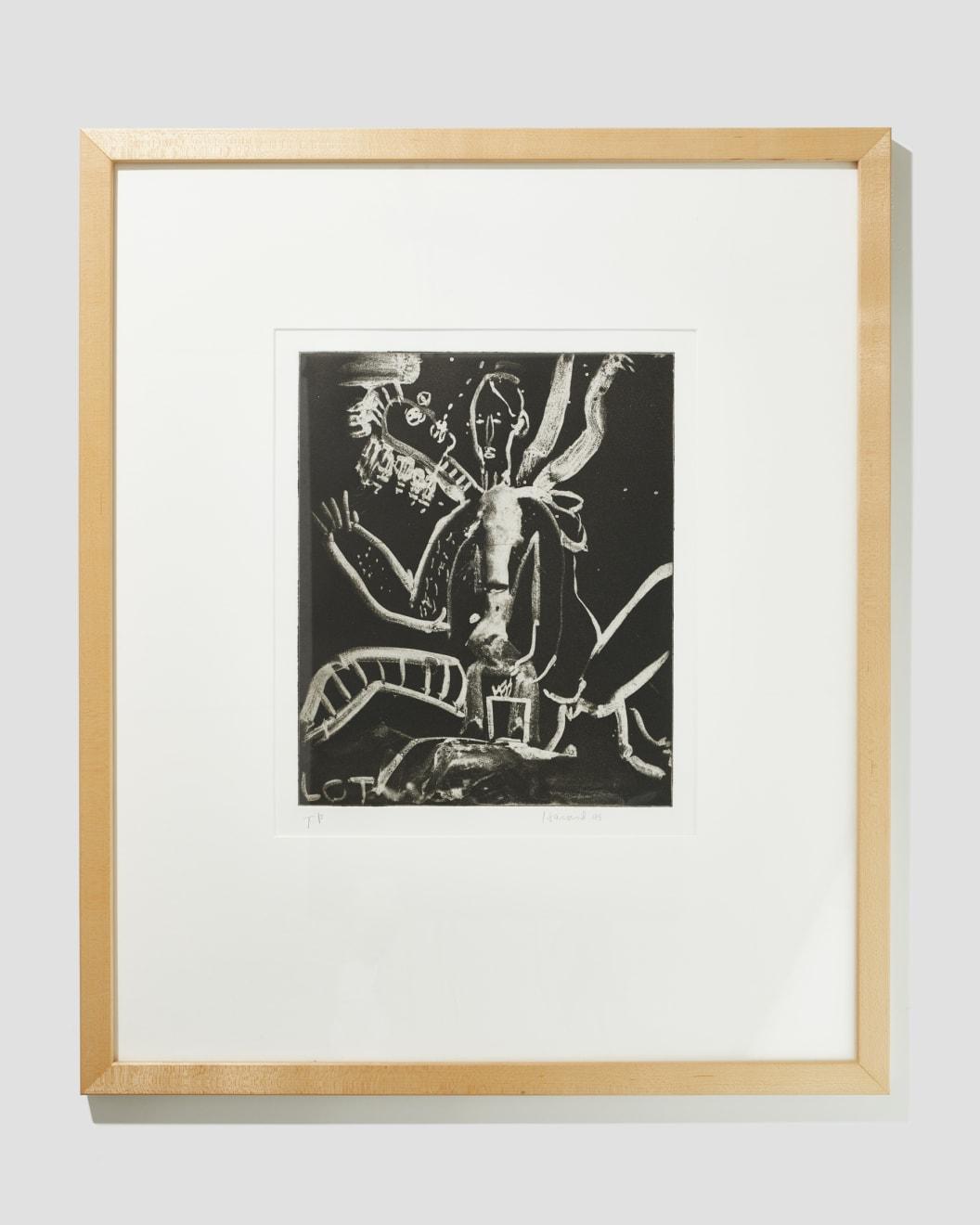 James Havard, Untitled T/P , 1995, Etching, 19 3/4 x 18 in, Starting Bid: $150. Courtesy of Zane Bennett Contemporary Art.