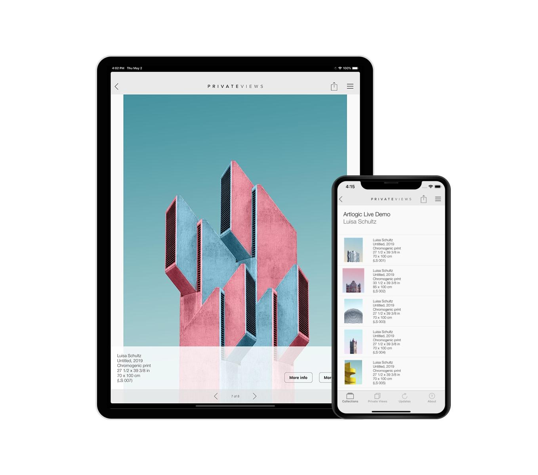 PrivateViews iPhone & iPad App | Artlogic