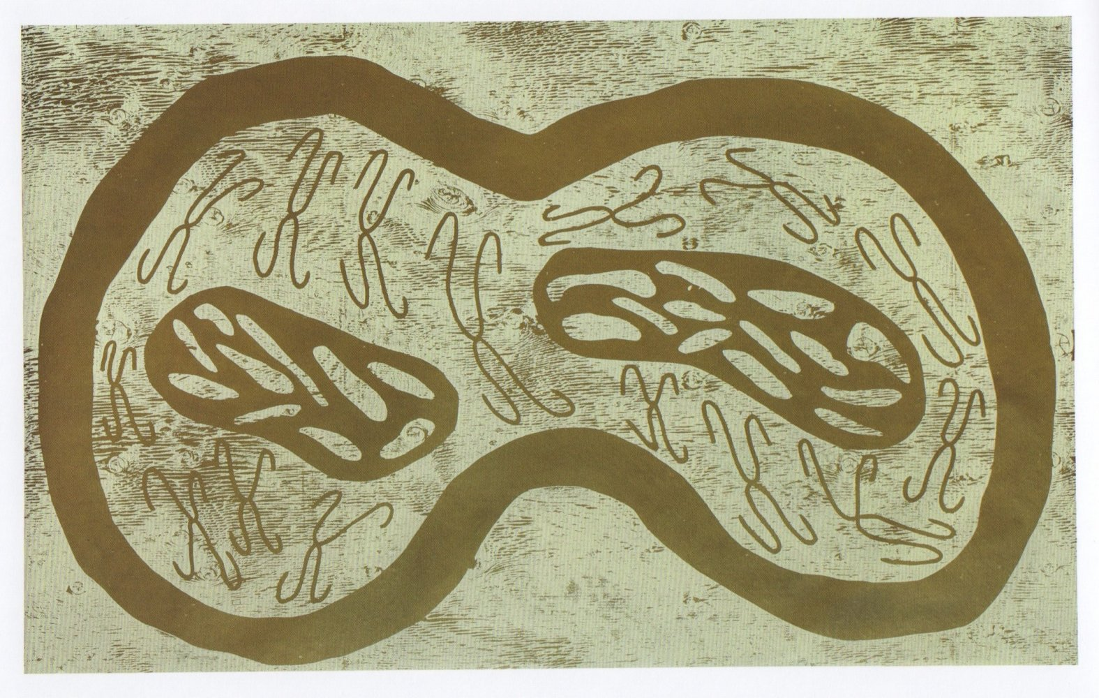 <div class=&#34;artist&#34;><strong>Nicholas POPE</strong></div> 1949- <div class=&#34;title&#34;><em>Gold and White Shapes (A Conversation Snippet)</em>, 1985</div> <div class=&#34;signed_and_dated&#34;>Initialled, titled, dated and numbered 2/7 on the reverse.</div> <div class=&#34;medium&#34;>Woodcut</div> <div class=&#34;dimensions&#34;>111 x 182 cm</div>