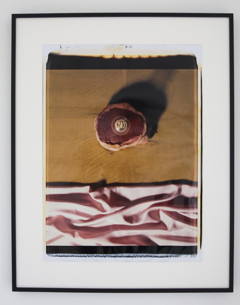 <div class=&#34;artist&#34;><strong>Helen CHADWICK</strong></div> 1953 - 1996 <div class=&#34;title&#34;><em>Meat Abstract No. 1  (Variation)</em>, 1989</div> <div class=&#34;signed_and_dated&#34;>Signed 'Helen Chadwick A/P'</div> <div class=&#34;medium&#34;>Polaroid, silk mat</div> <div class=&#34;dimensions&#34;>81 x 71 cm<br />98 x 77 cm overall</div> <div class=&#34;edition_details&#34;>Edition of 4 with AP</div>