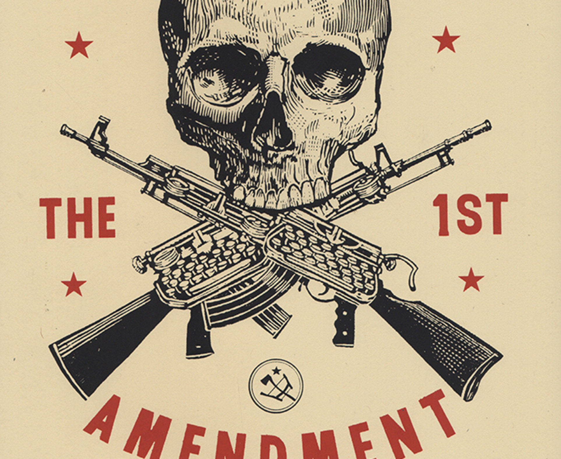 Ravi Zupa, I Support The 1st Amendment, 2019
