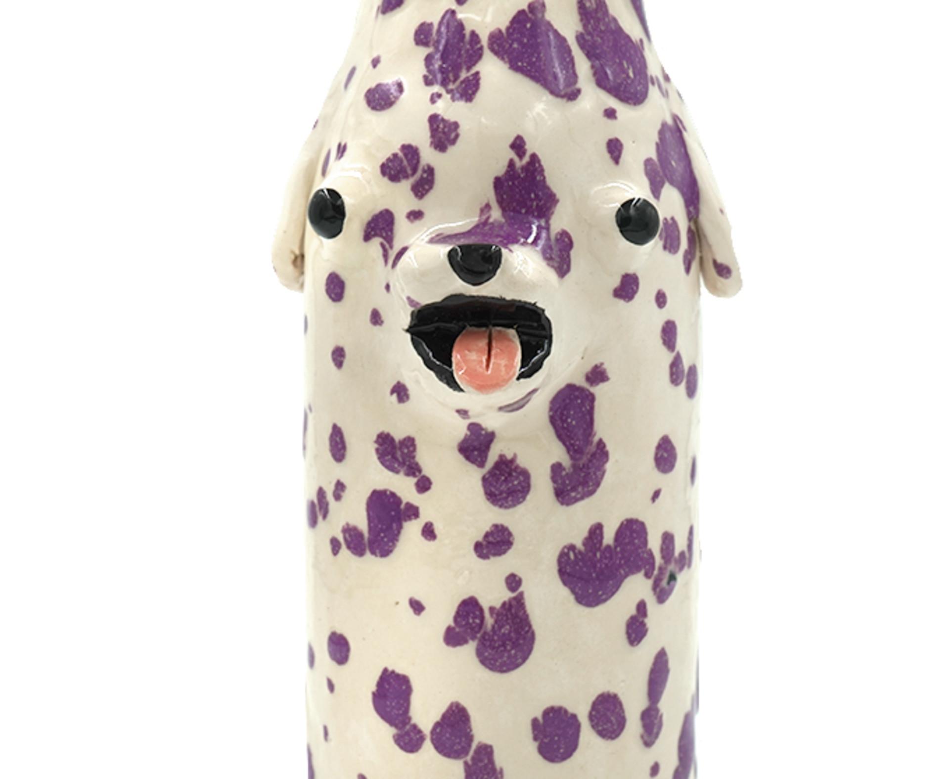 Katie Kimmel, Purple Dalmatian Vase, 2019