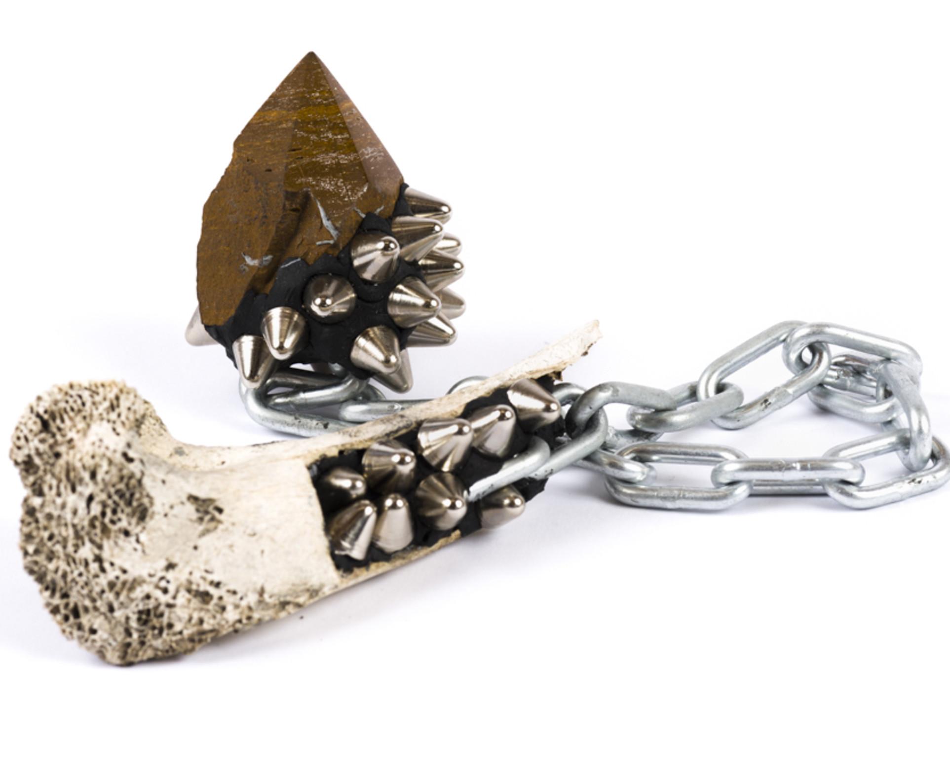 Lucien Shapiro, Jasper with Bone Handle Mace, 2017