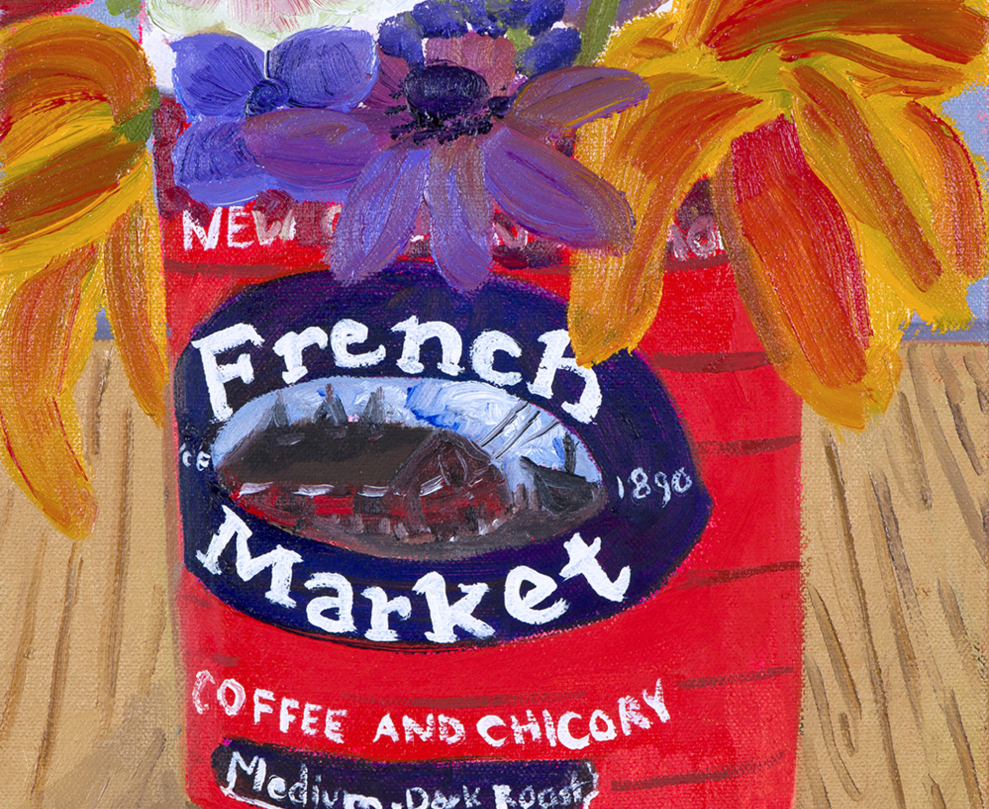 Anna Valdez, Garden Flowers in French Market Can FOR WEB, 2017