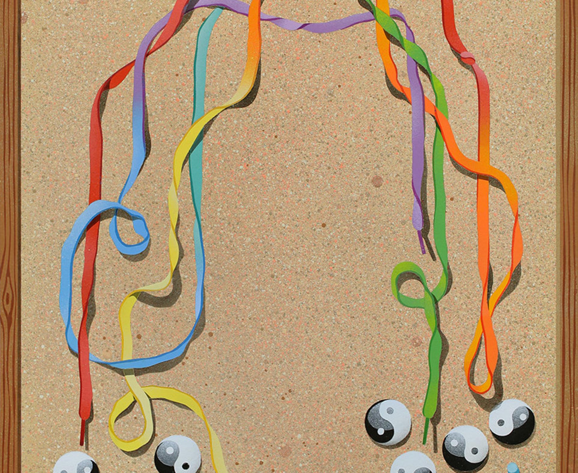 Casey Gray, Trompe l'oeil with Rainbow, 2016