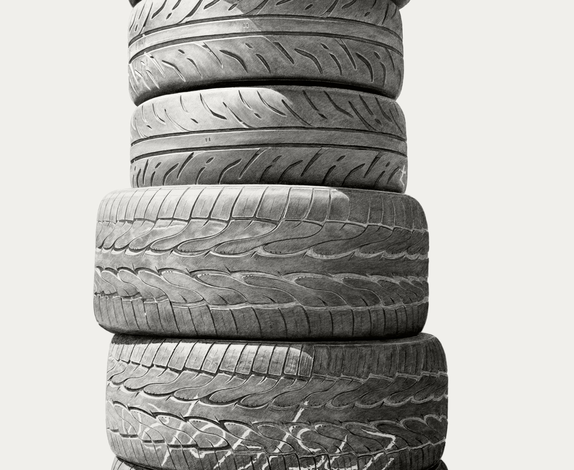Joel Daniel Phillips, Neighborhood Still Life 4 (Tires), 2018