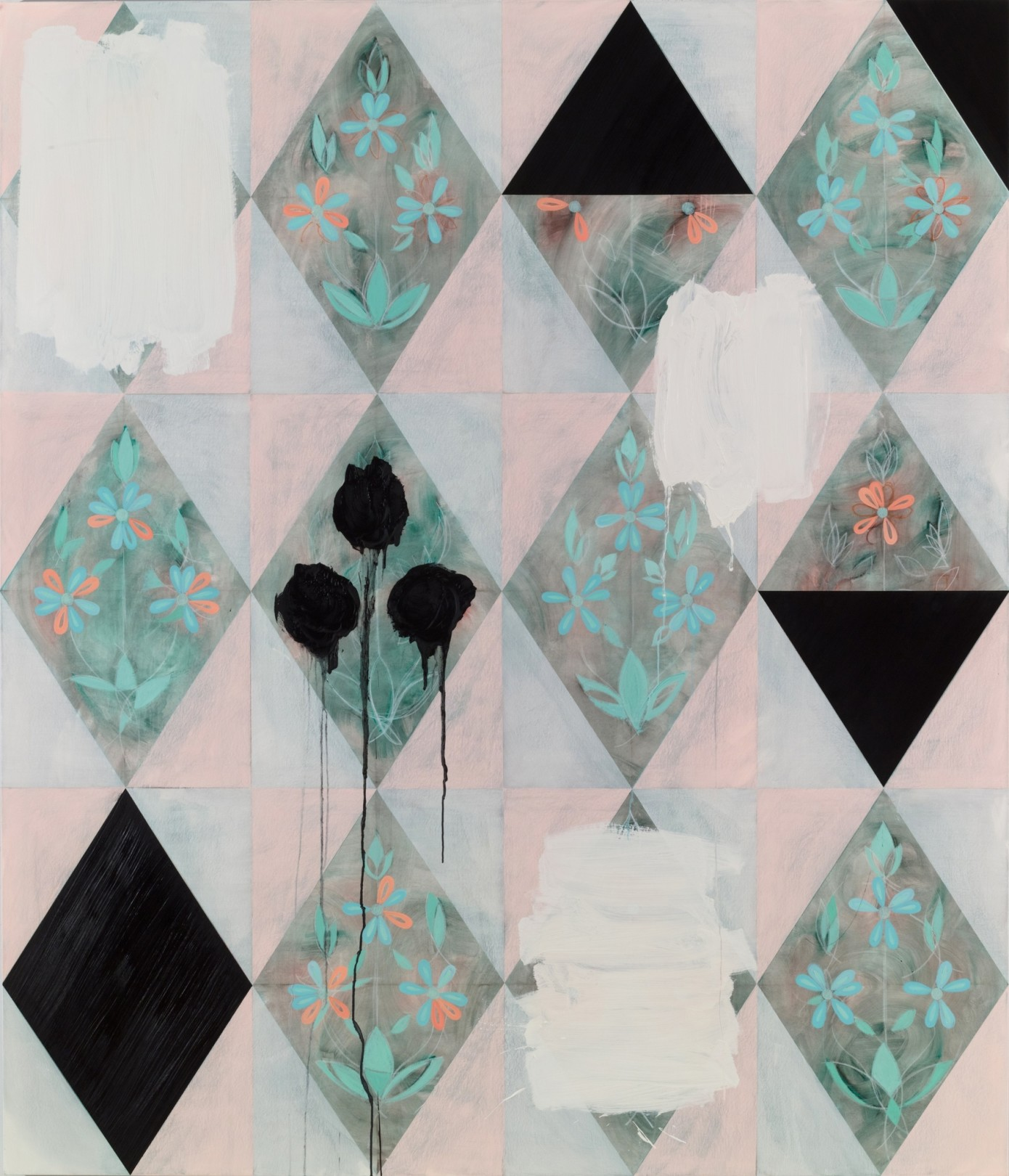 Kamrooz Aram, Untitled (Palimpsest #21), 2013-2014