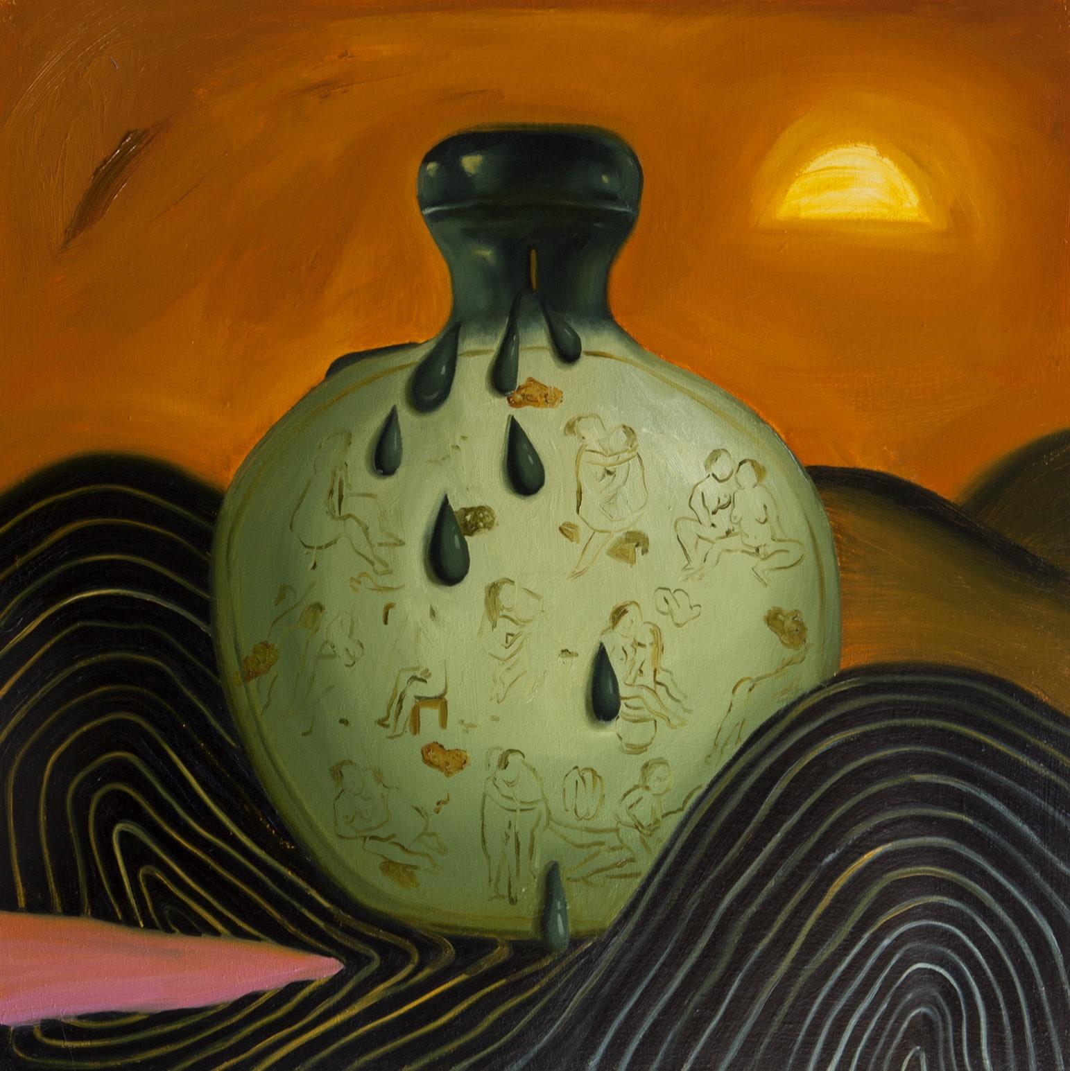 Dominique Fung Lewd, 2019 Oil on linen 76.2 cm x76.2 cm 30 x 30 in.