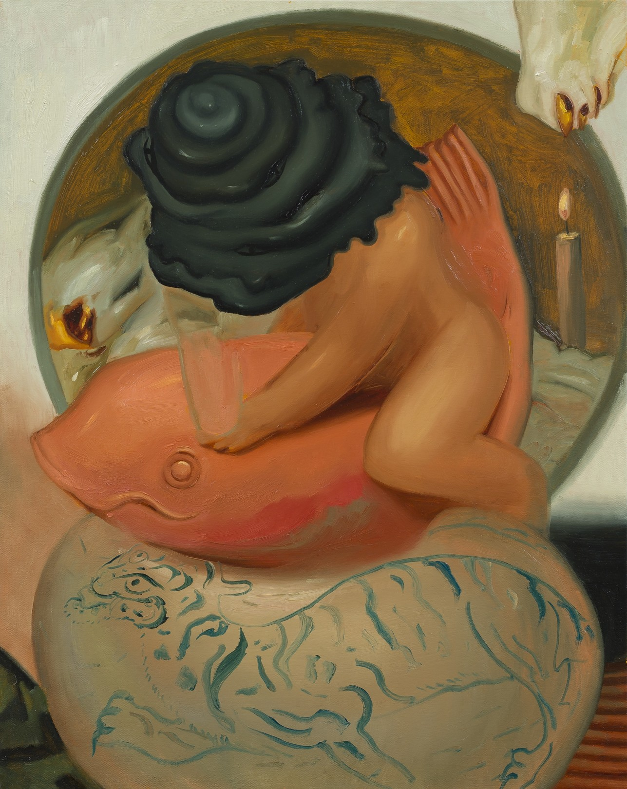 Dominique Fung Travelling Alone, 2019 Oil on canvas 60.9cm x 76.2 cm 24 x 30 in.