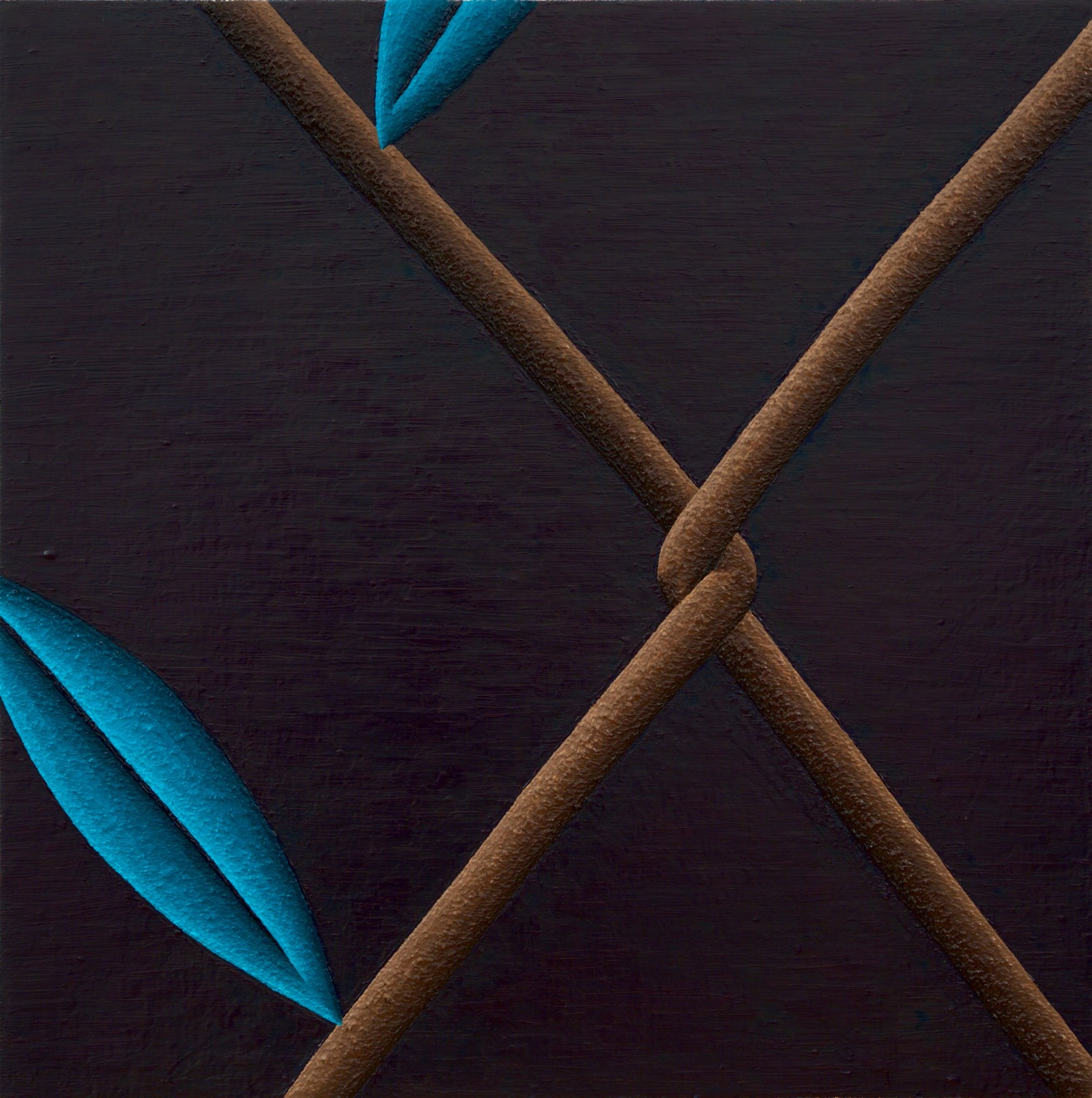 Bend 2, 2018 Oil on linen 76 x 76 cm. / 30 x 30 in.