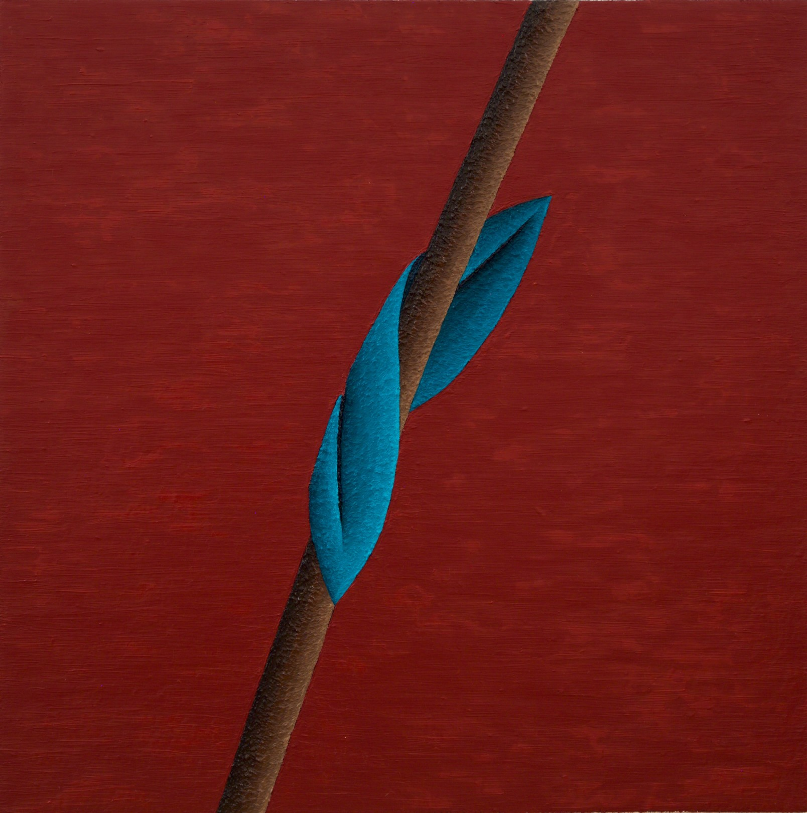 Fold 2, 2018 Oil on linen 76 x 76 cm. / 30 x 30 in.