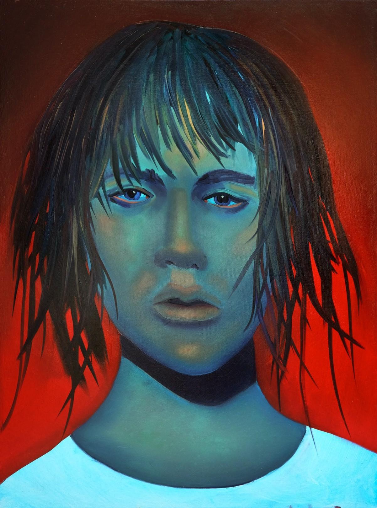 Daredevil, 2021 Oil on canvas 61 x 45.5 cm. / 24 x 18 in.