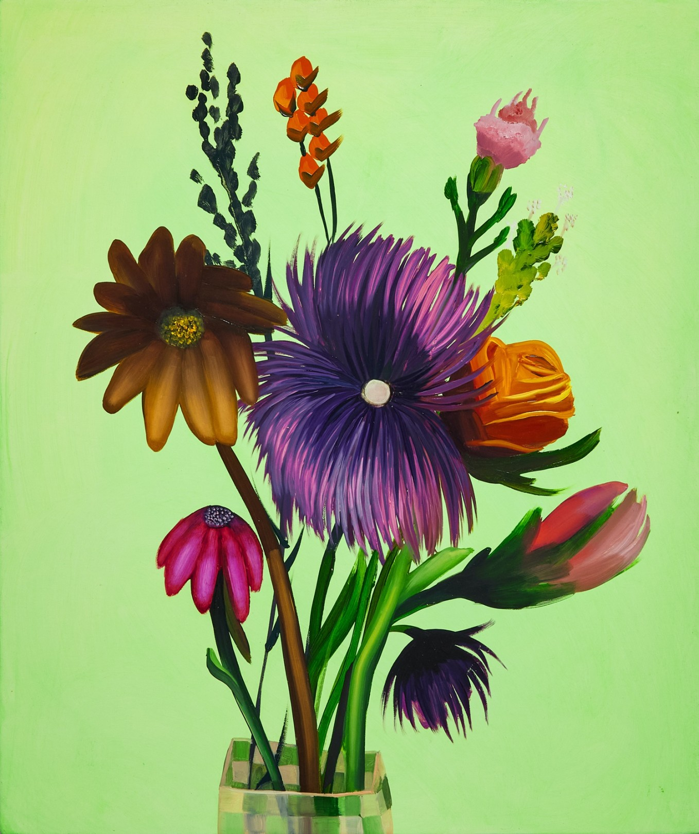 Bouquet #3, 2021 Oil on canvas 61 x 51 cm. / 24 x 20 in.