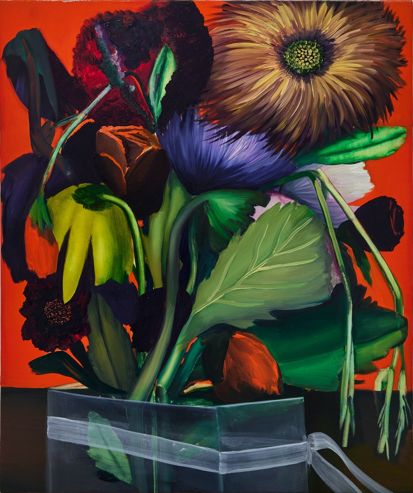 Bouquet #4, 2021 Oil on canvas 61 x 51 cm. / 24 x 20 in.