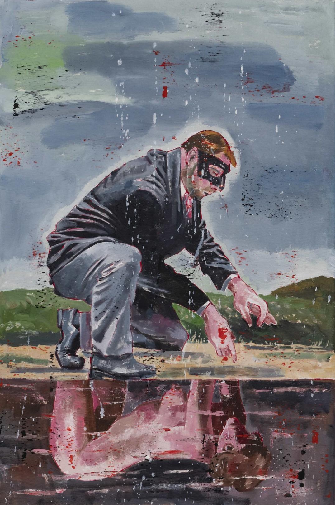 Nicky Nodjoumi Man's Reflection, 2019 Oil on canvas 91 x 61 cm. / 36 x 24 in.
