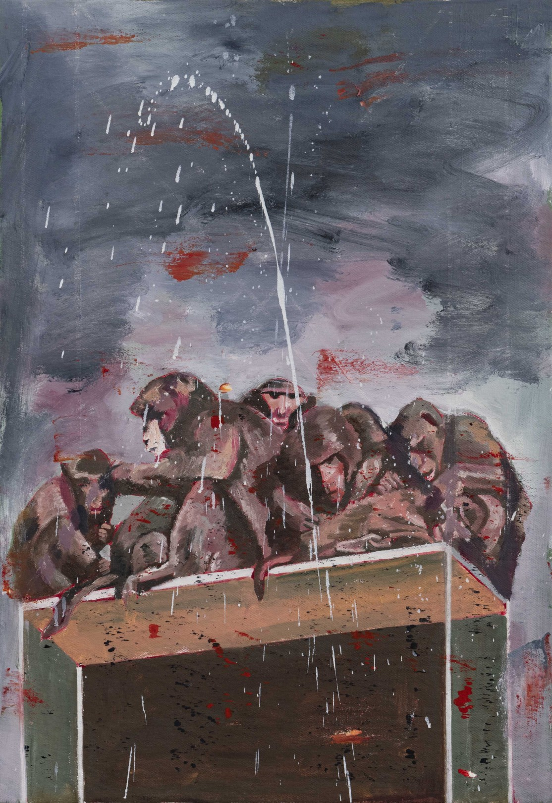 Nicky Nodjoumi Gathering, 2019 Oil on canvas 66 x 46 cm. / 26 x 18 in.
