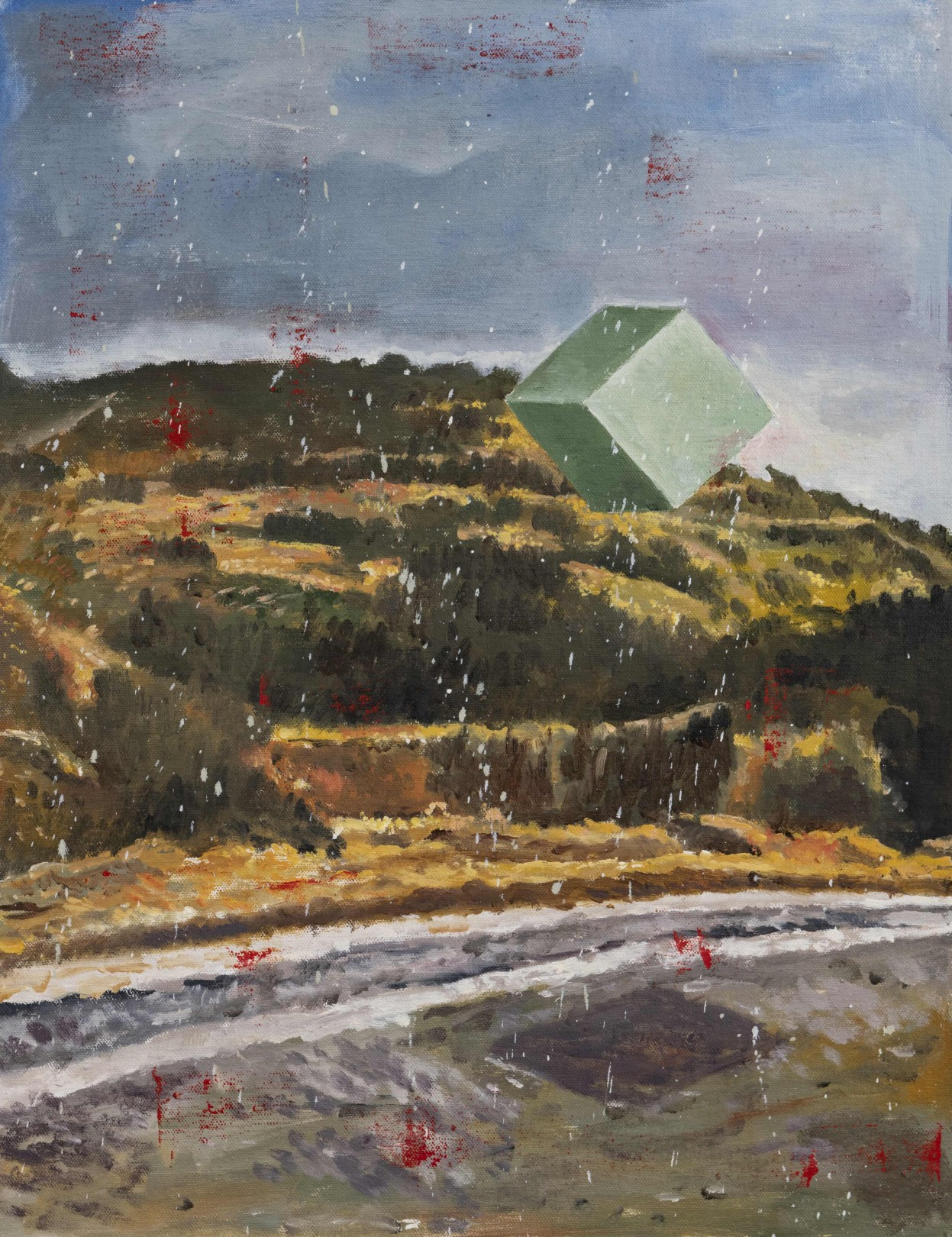 Nicky Nodjoumi Over the Hill Now, 2020 Oil on canvas 51 x 41 cm. / 20 x 16 in.