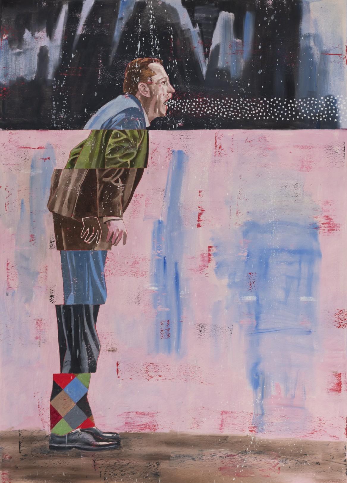 Nicky Nodjoumi Gently Talk to Me, 2019 Oil on canvas 183 x 127 cm. / 72 x 50 in.