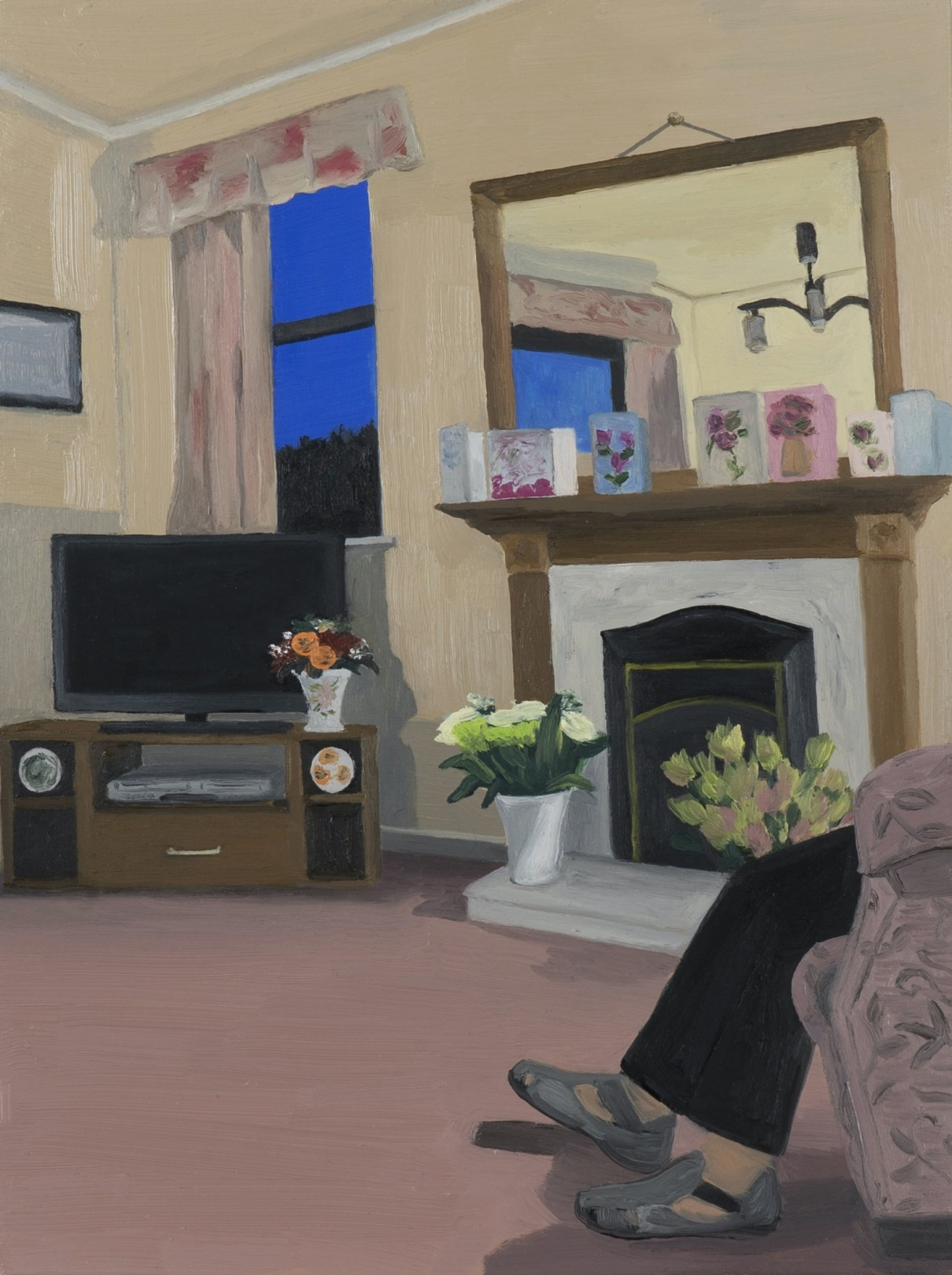 Evie O'Connor Fireplace Display, 2020 Oil on panel 20.5 x 15.5 cm. / 8 x 6 in.