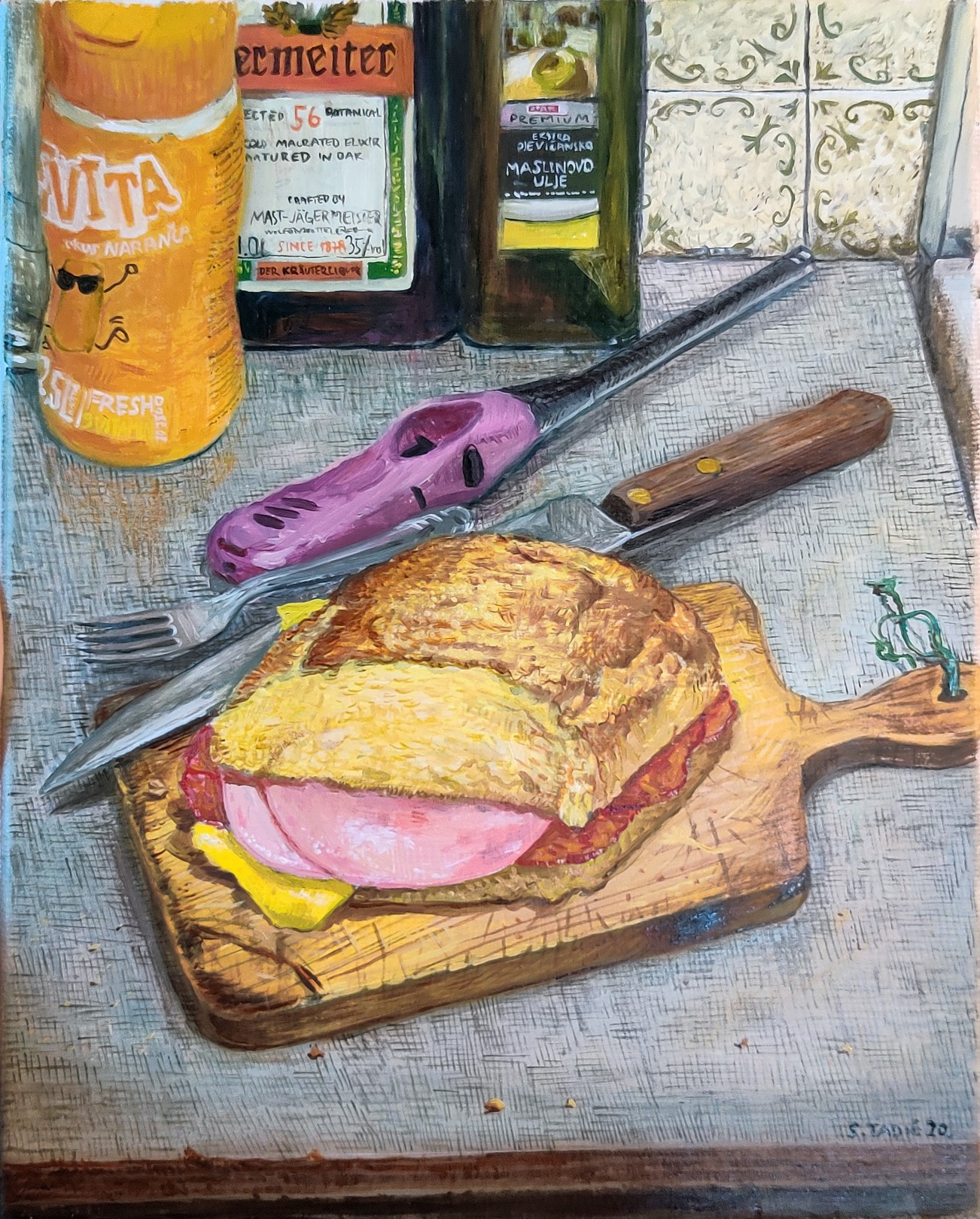 Stipan Tadic My Sandwich, 2020 Oil on canvas 30 x 24 cm. / 12 x 9.5 in.