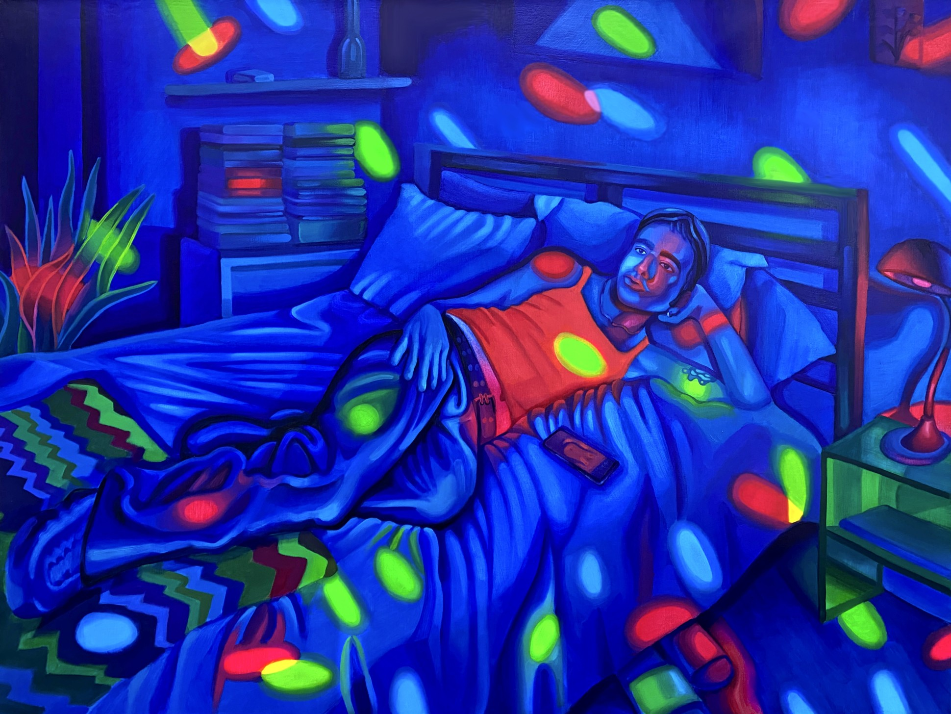 James Bartolacci Self-Portrait at Night, 2020 Oil on Canvas 91 x 122 cm. / 36 x 48 in.