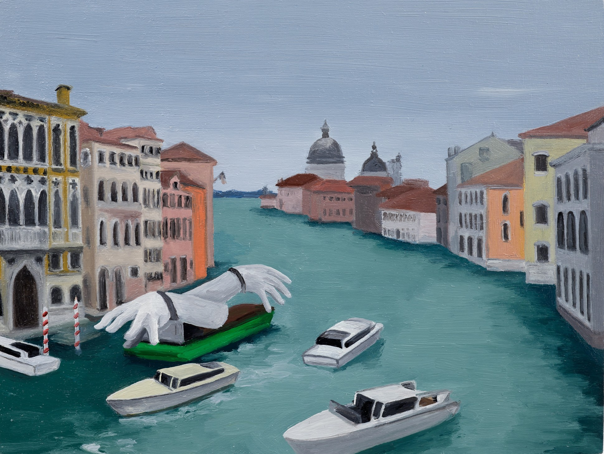 Delivery Down The Grand Canal, 2021 Oil on panel 15.5 x 20.5 cm. / 6 x 8 in.