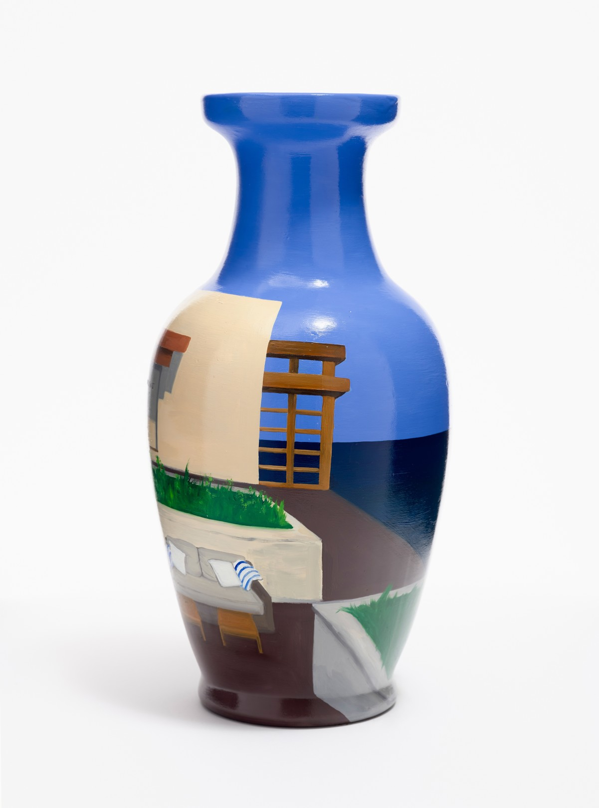 Nobu, Malibu, 2021 Oil on ceramic Height: 36, Base: 12 cm. / Height: 14. 1, Base: 4.7 in.