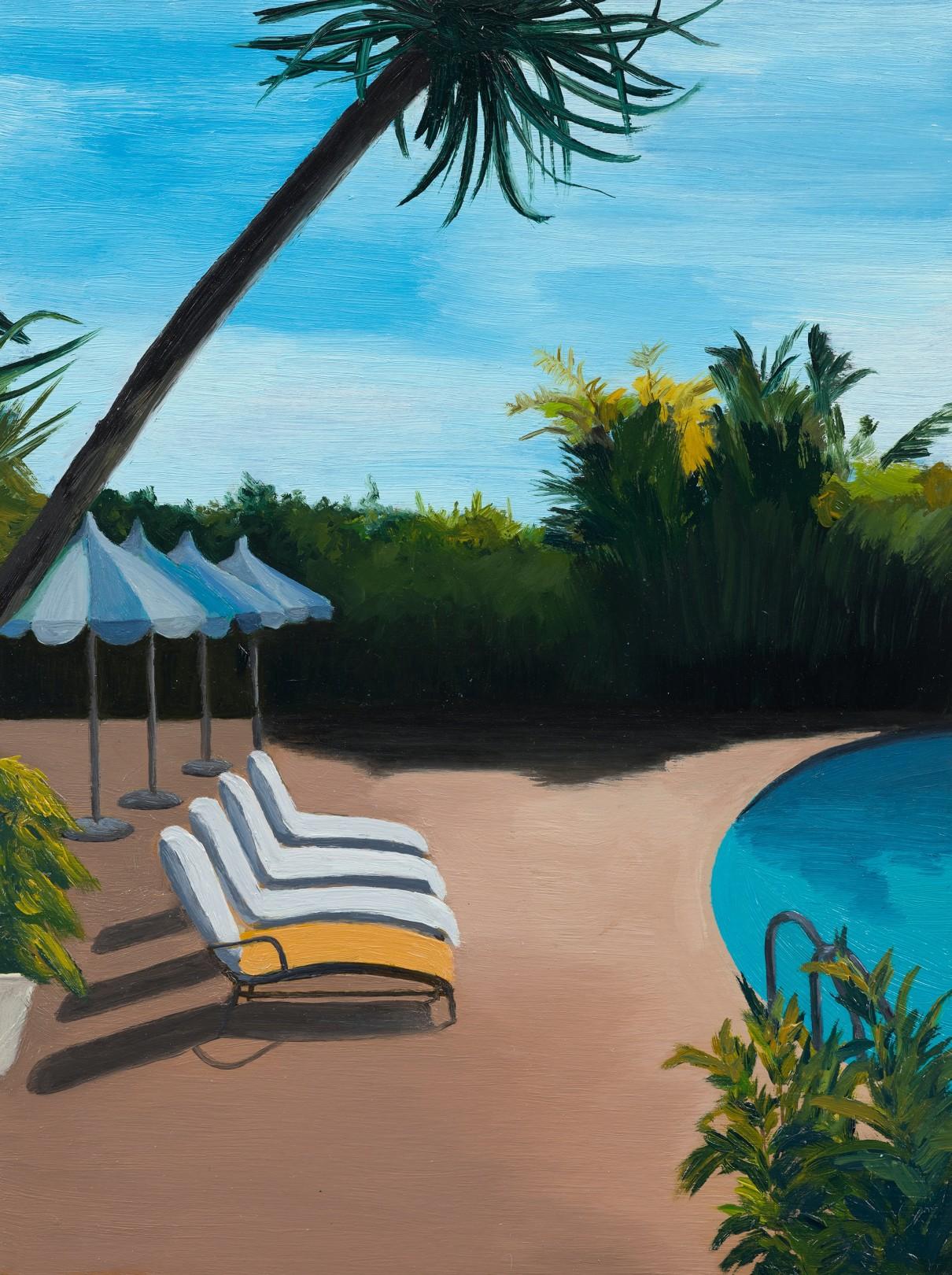 Poolside, 2020 Oil on panel 20 x 15 cm. /8 x 6 in.