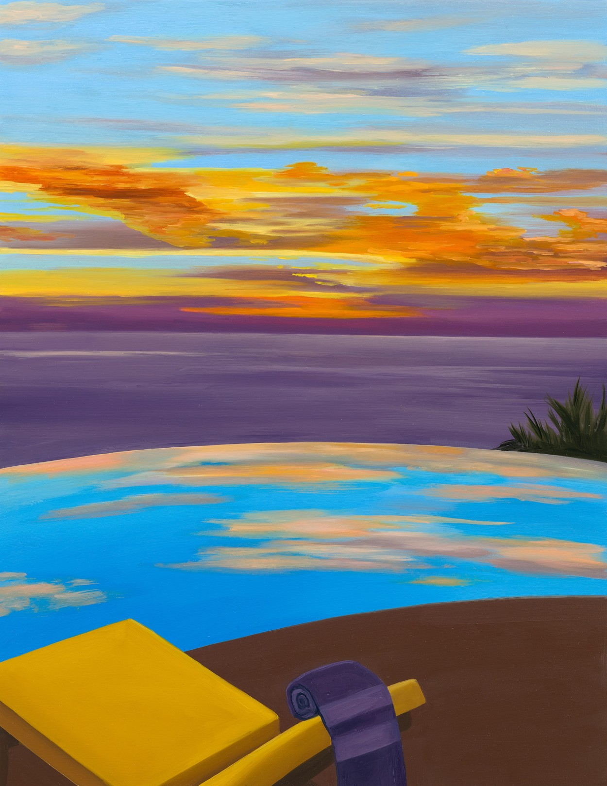 Private Sunset, 2021 Oil on panel 35.5 x 46 cm. / 14 x 18 in.