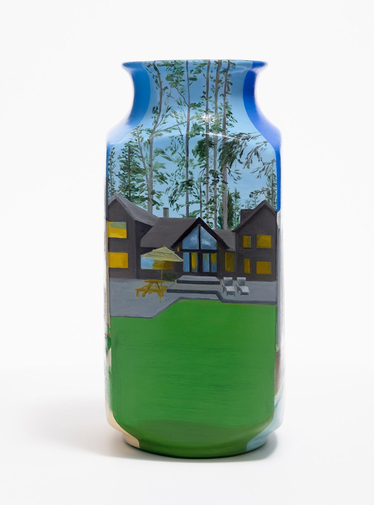 Property Portfolios , 2020 Oil on ceramic H:30 x W:13 cm. / H:11.8 x W:5.2 in.