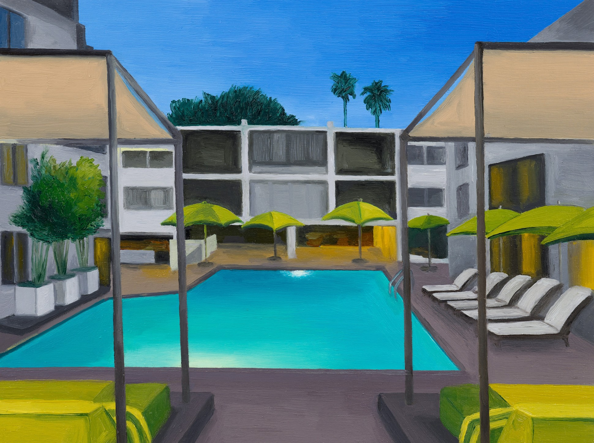 Sunset Marquis, 2021 Oil on panel 15.5 x 20.5 / 6 x 8 in.