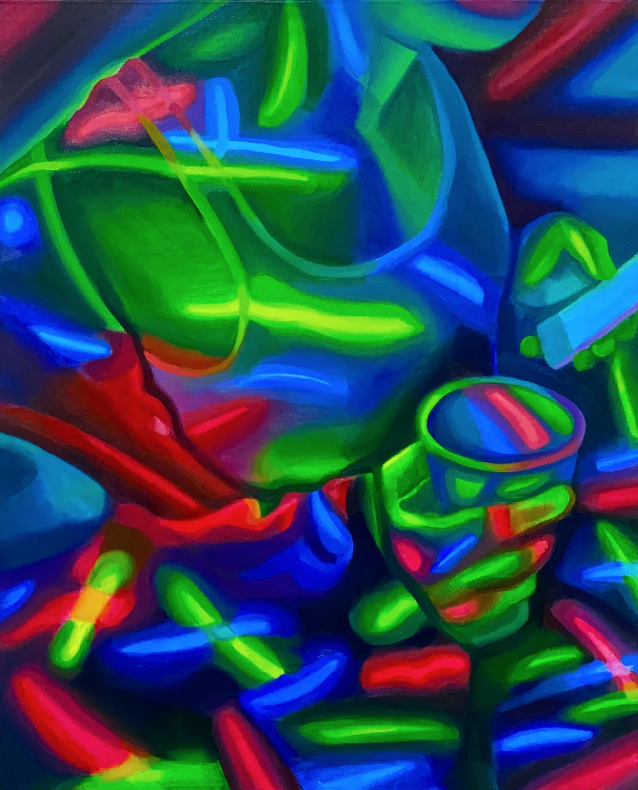 Cup Crop, 2021 Oil on canvas 51 x 41 cm. / 20 x 16 in.