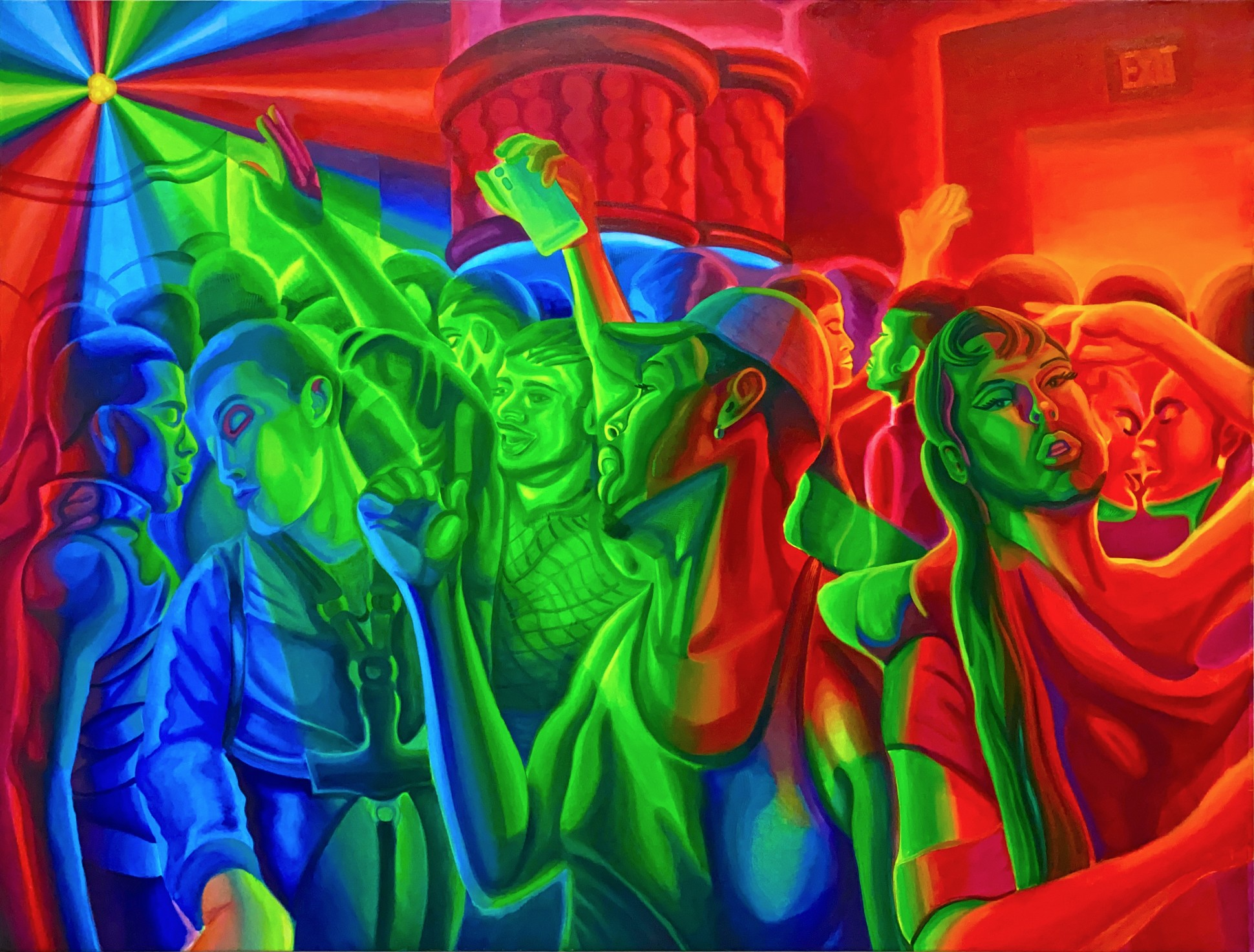 The Spectrum Closing Party, 2021 Oil on canvas 132 x 172 cm. / 52 x 68 in.