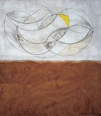 Curved forms - white and brown (Mycenae), 1955