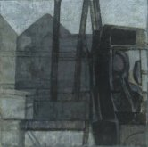 Lorry and Buildings: Study, 1952