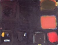 Black Painting - Red, Brown, Olive: July 1959, 1959
