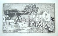 Winter Panorama etching, c1958