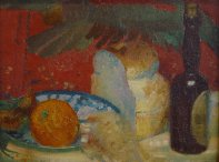 Still Life with Bread and Bottle, 1910