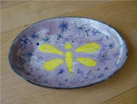 Ceramic Butterfly Plate, 1971
