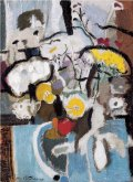Flowers, Blue and White, 1946