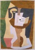 Guitare et partition sur gueridon. Juan-Les-Pins, 1920