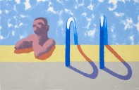 Gregory in the Pool (Paper Pool 4), 1978