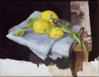 Three Lemons on a Blue Cloth, 2019