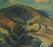 View of South Downs, c1927
