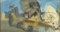 Landscape with River and Temple, c1943