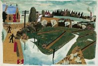 Landscape with Church and Telegraph Pole, 1937