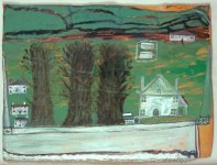 Three Trees: White House in a Landscape, c1930s