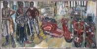 Four Lambrettas and Three Portraits of Janet Churchman, 1958